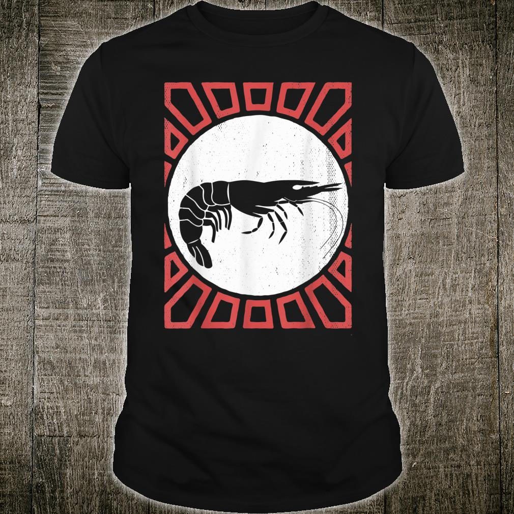 Shrimp Vintage Retro Style Animal Shirt
