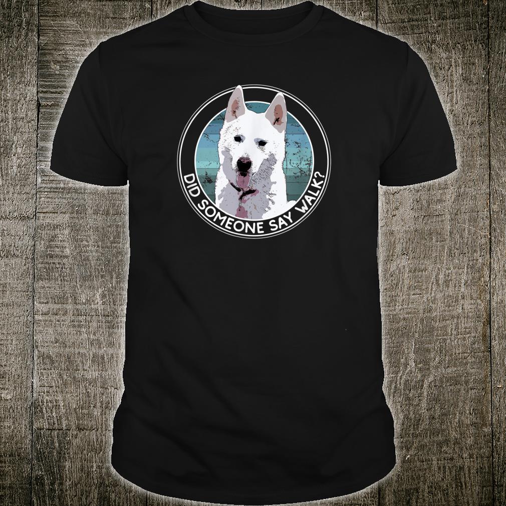 Siberian Husky Snow Dog Sled Dog Walk Hike Cute, Fun, Retro Shirt