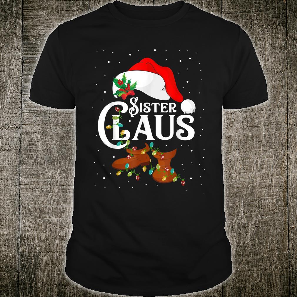 Sister Santa Claus Christmas Lights Matching Family Shirt