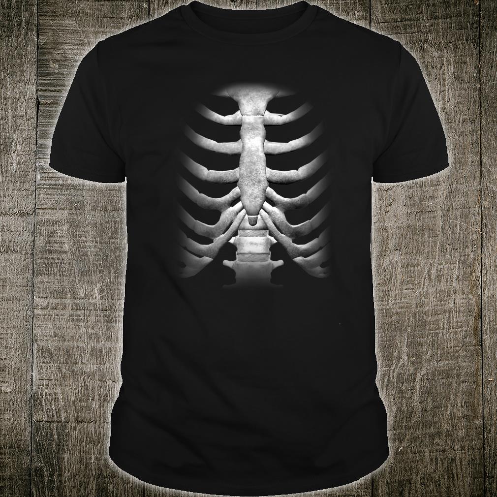 Skeleton Chest RibCage Bones Halloween Shirt