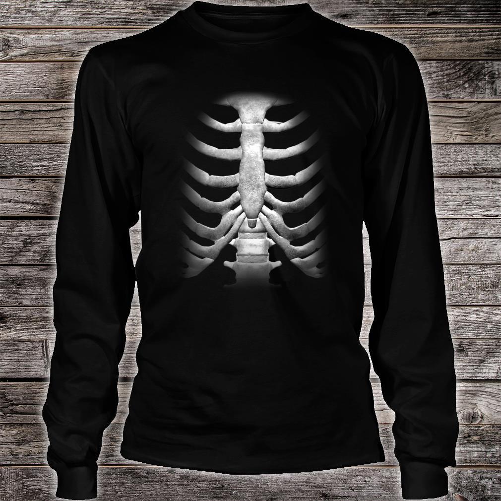 Skeleton Chest RibCage Bones Halloween Shirt long sleeved