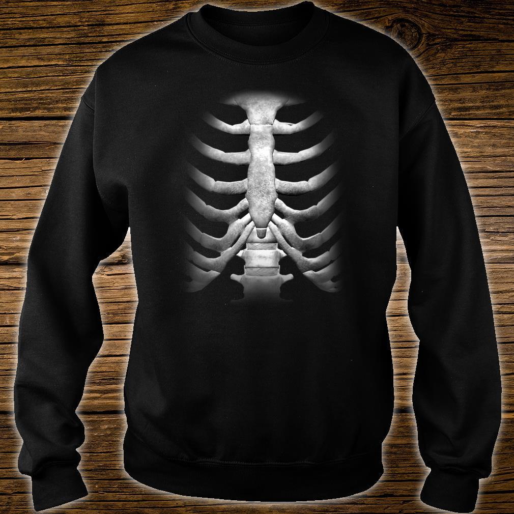 Skeleton Chest RibCage Bones Halloween Shirt sweater