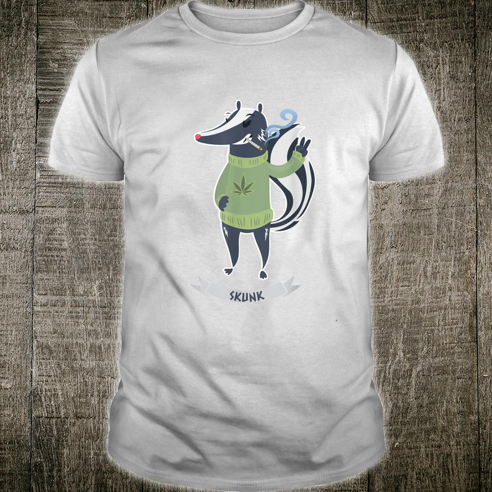 Skunk Weed Type with Marijuana Joint Shirt