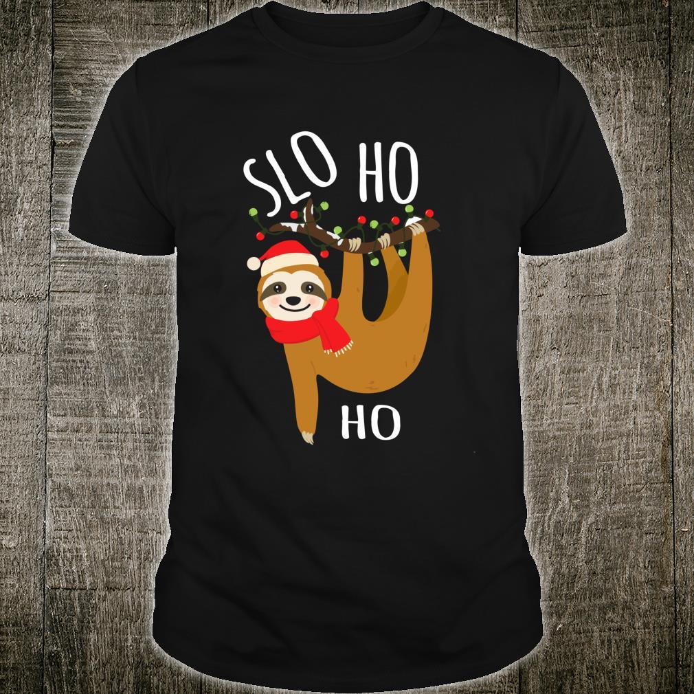 Slo Ho Ho Christmas Greetings From A Sloth Shirt