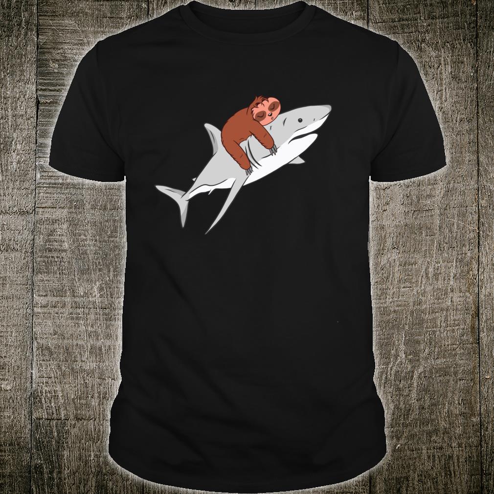 Sloth Riding Shark Cool Shirt