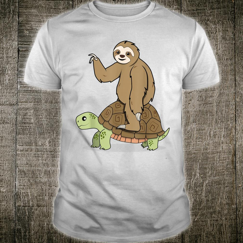 Sloth Riding Turtle Lazy and Slow Shirt