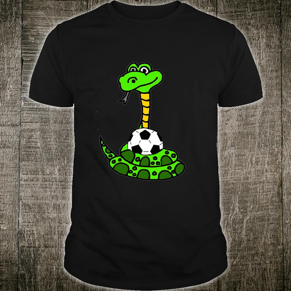 Smileteesfunnya Green Python Snake and Soccer Ball Shirt