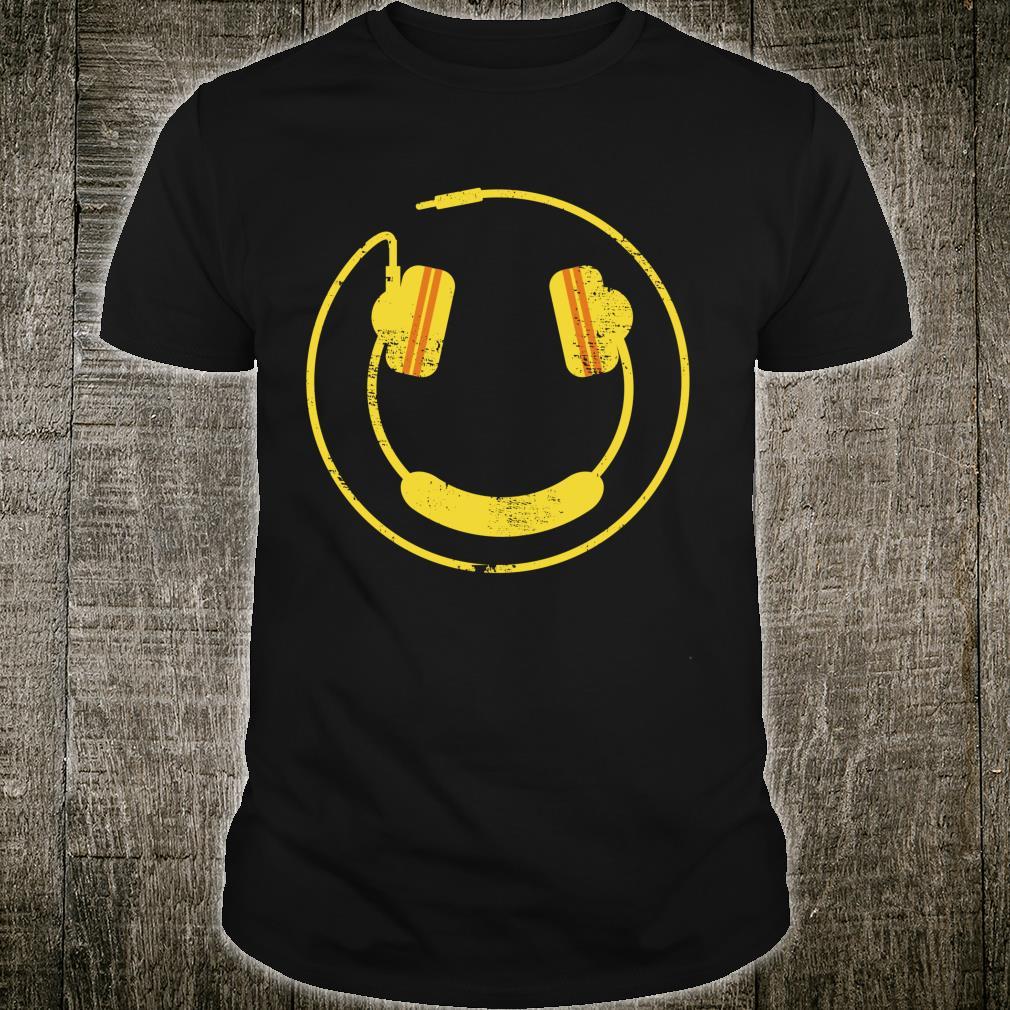 Smiley Face Headphones DJ Rave Music Design Idea Shirt