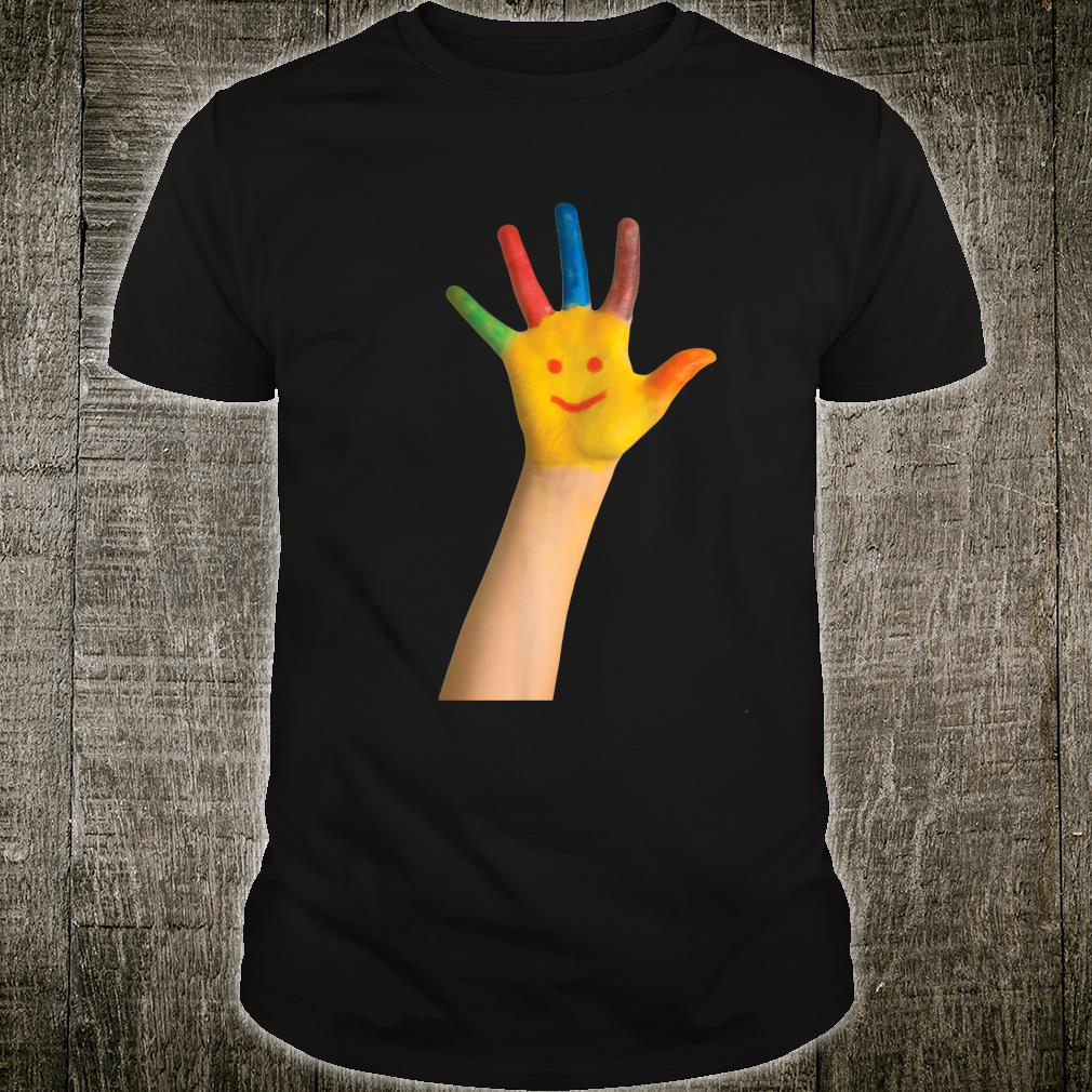 Smiley Face Inspired Hand Face Related Smiley Hand Design Shirt