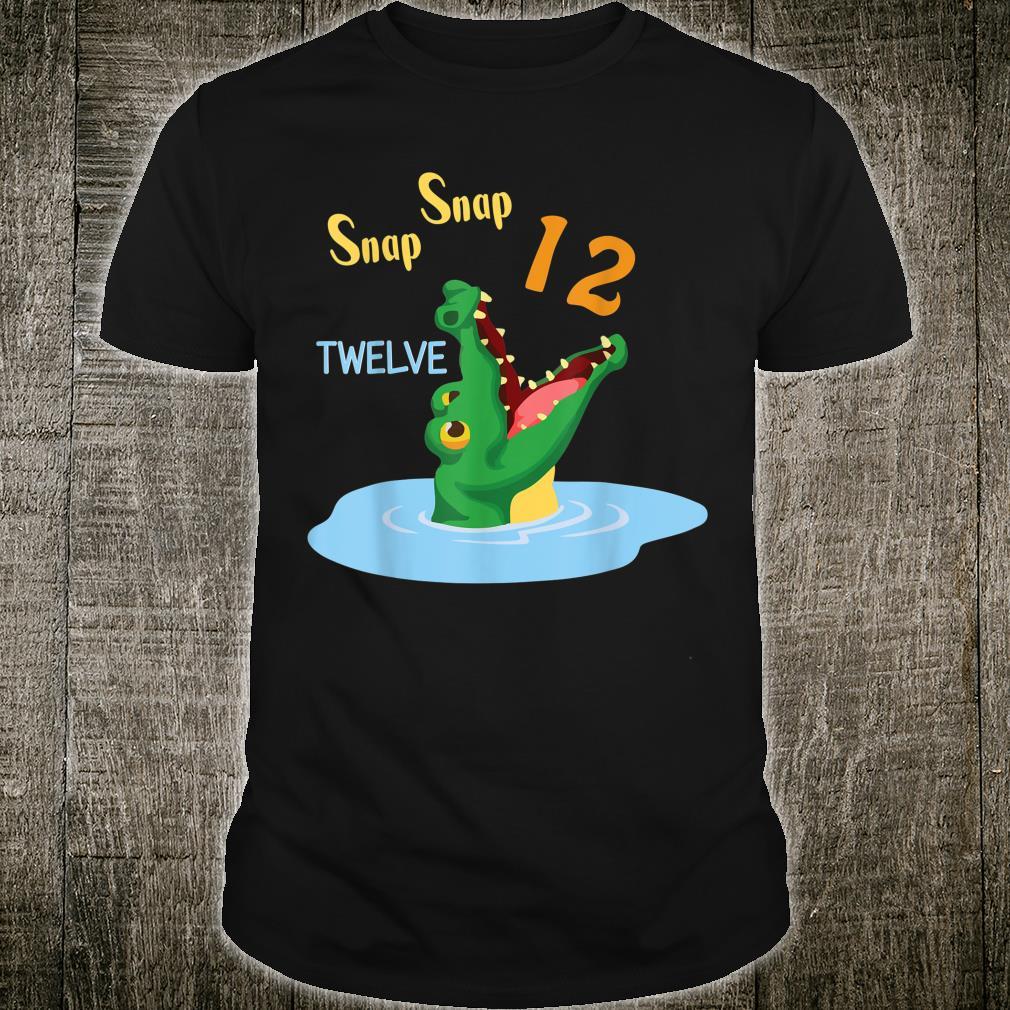 Snap Snap Happy Birthday 12 Years Old Born In 2008 Crocodile Shirt