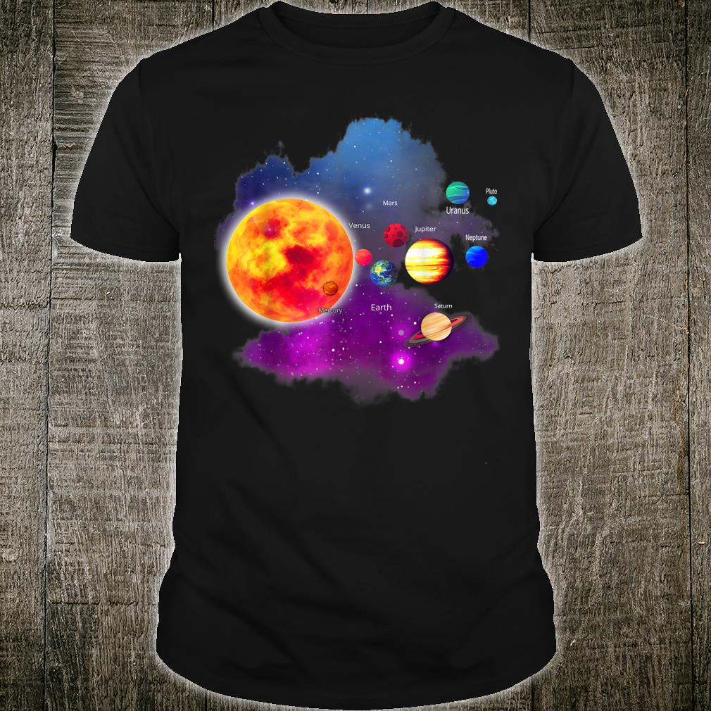 Solar System Planets for Astronomy and Space Geeks Shirt