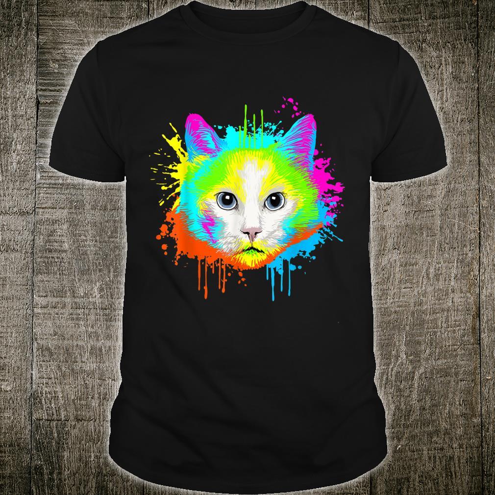 Splash Art Cat House Cats Shirt