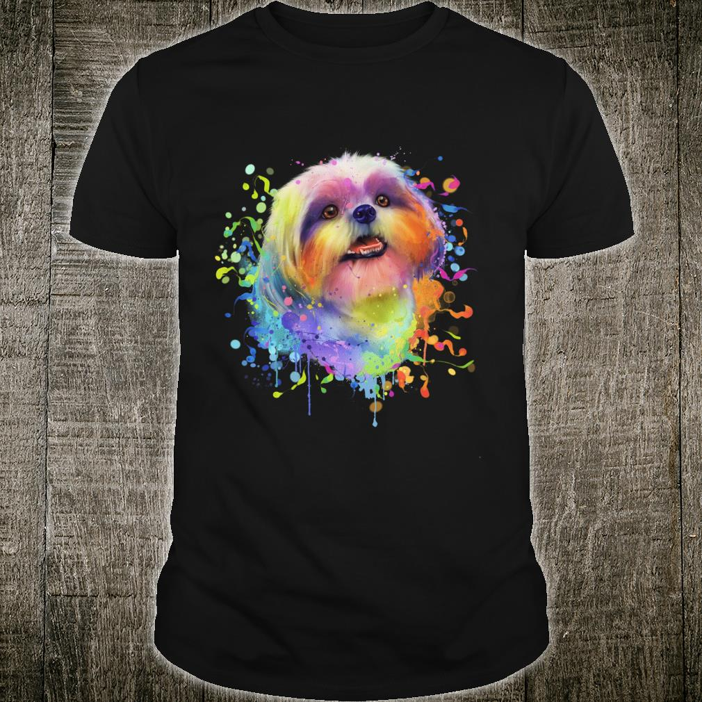 Splash Art Shih Tzu Cute Puppy Dog Shirt