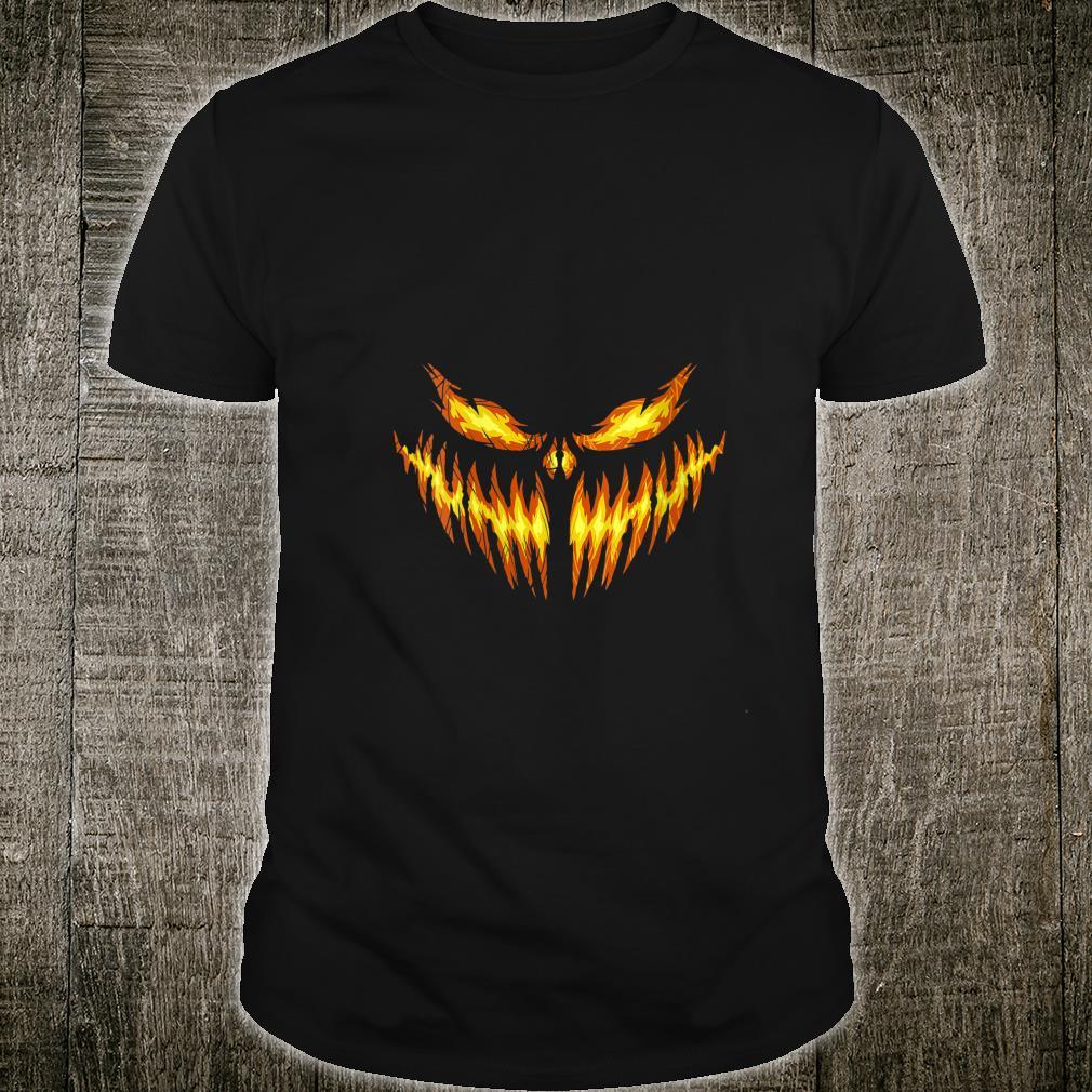 Spooky JackOLantern Pumpkin Face Halloween Shirt