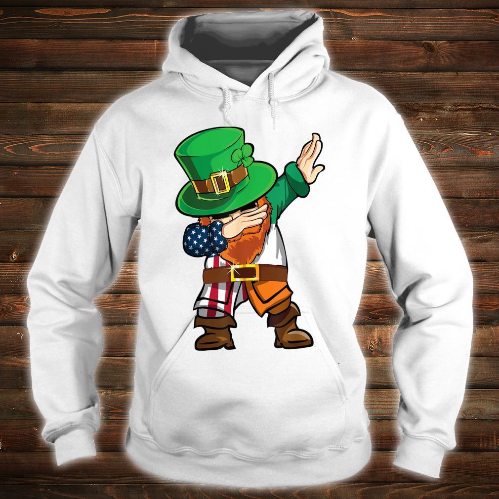 St Patricks Day Dabbing Leprechaun American Flag And Irish Shirt hoodie