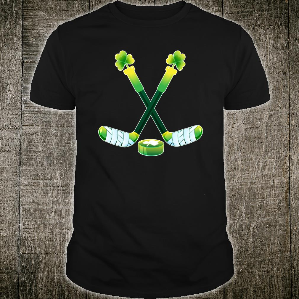 St Patricks Day Hockey Shamrock Shirt