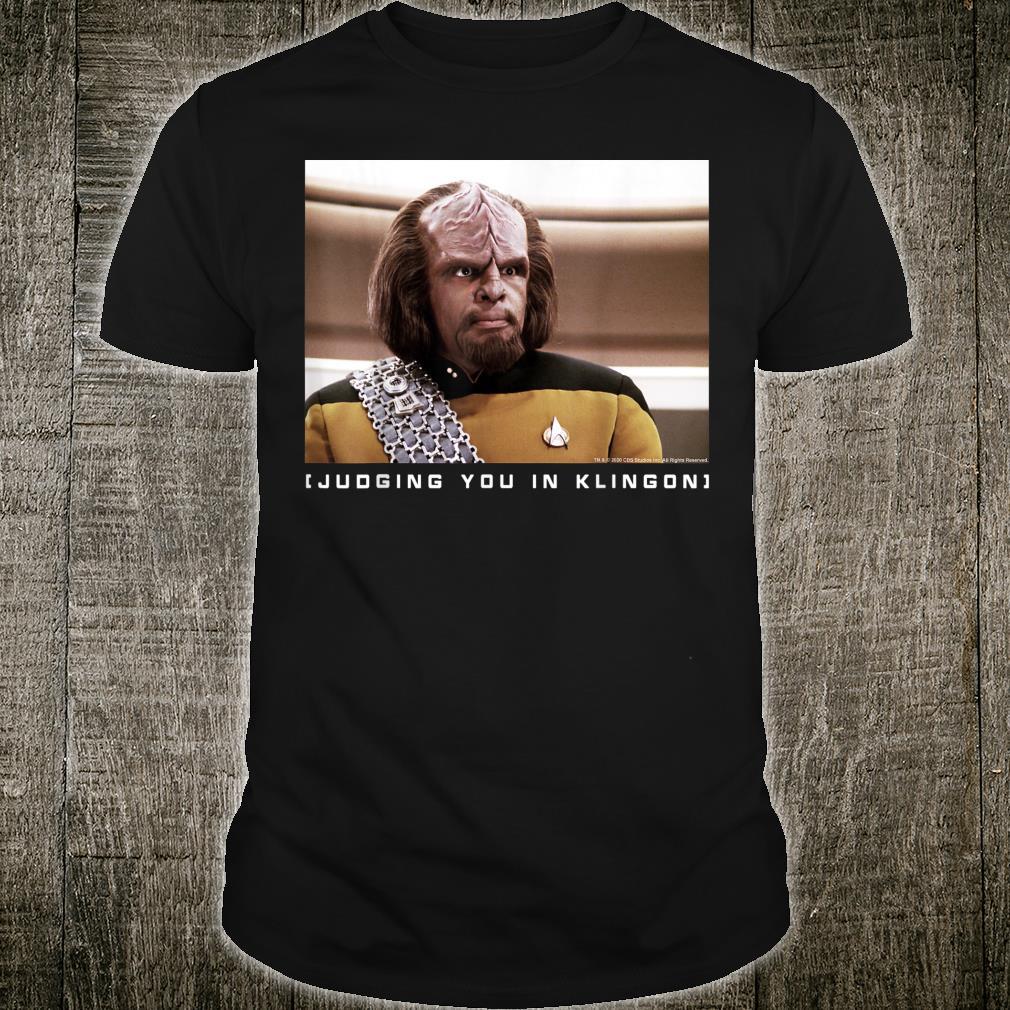 Star Trek The Next Generation Worf Judging You In Klingon Shirt