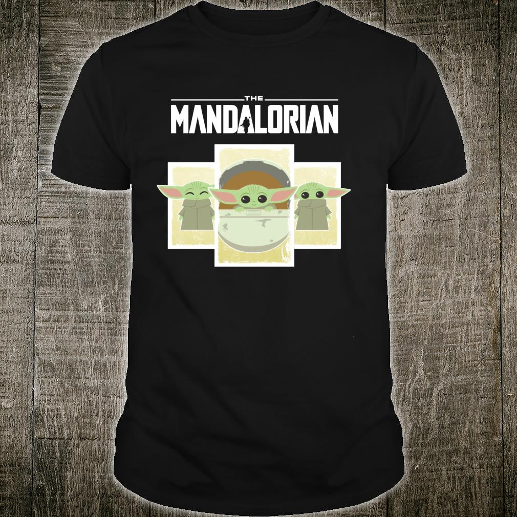 Star Wars The Mandalorian The Child Cute Cartoon Panels Shirt