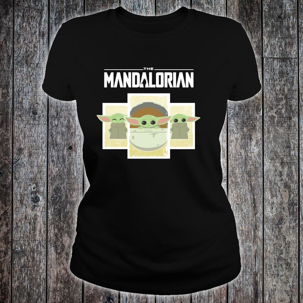 Star Wars The Mandalorian The Child Cute Cartoon Panels Shirt ladies tee