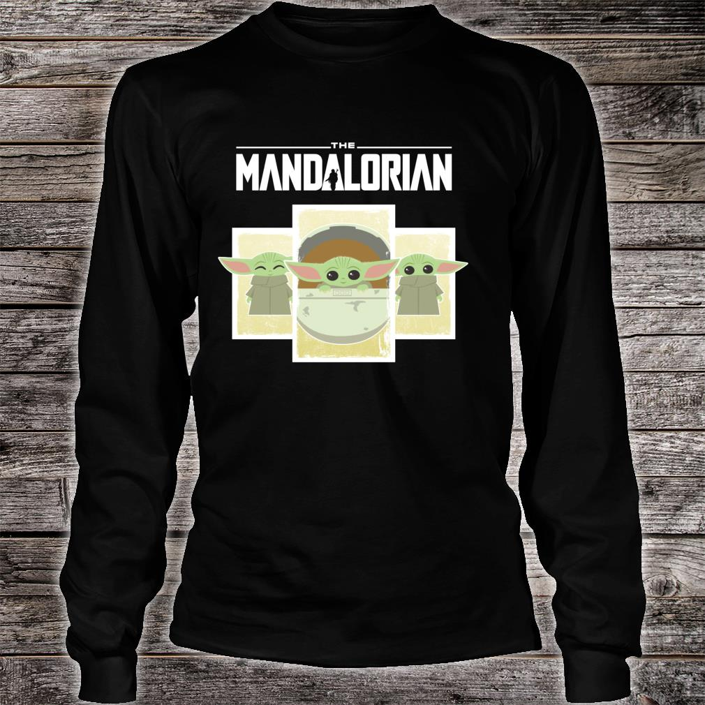 Star Wars The Mandalorian The Child Cute Cartoon Panels Shirt long sleeved