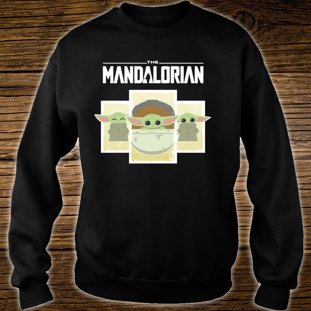 Star Wars The Mandalorian The Child Cute Cartoon Panels Shirt sweater