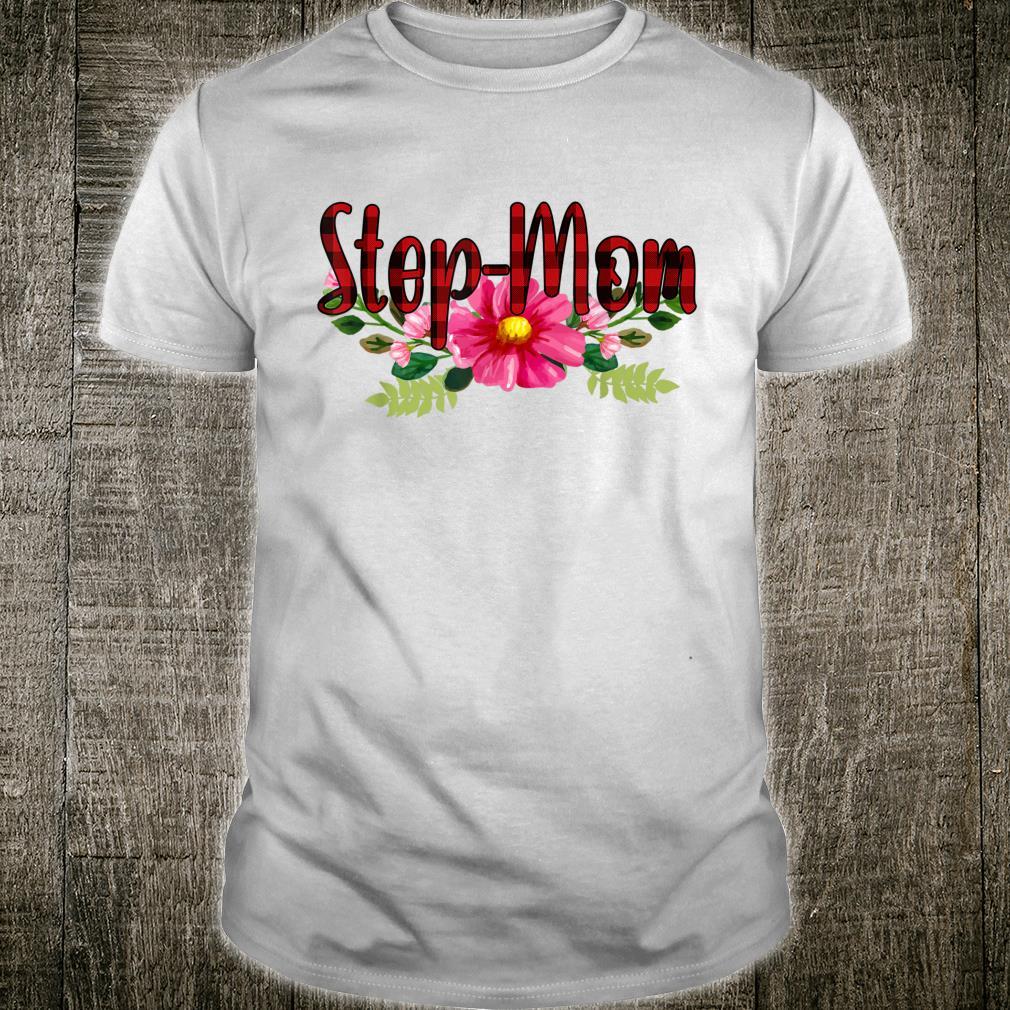 StepMom Floral Red Plaid StepMom Floral Shirt