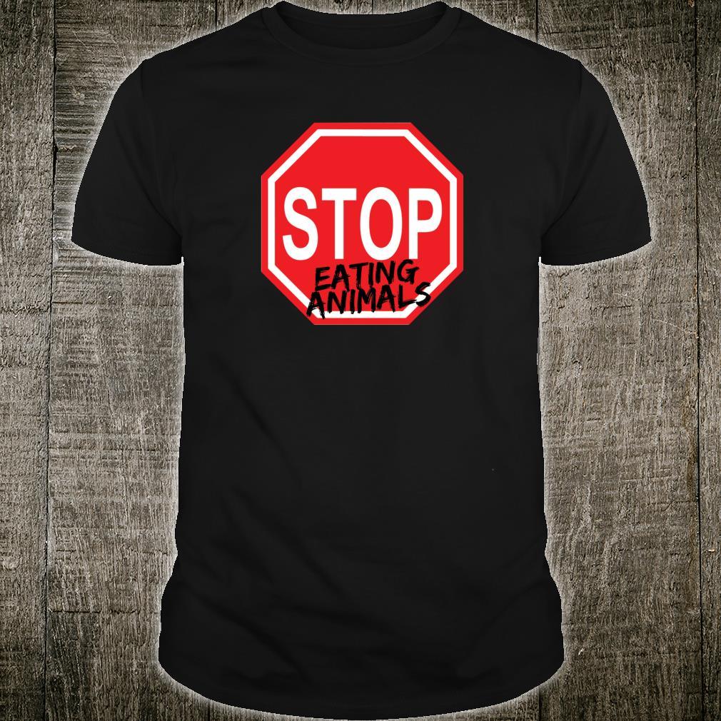 Stop Eating Animals Vegan Awareness Shirt