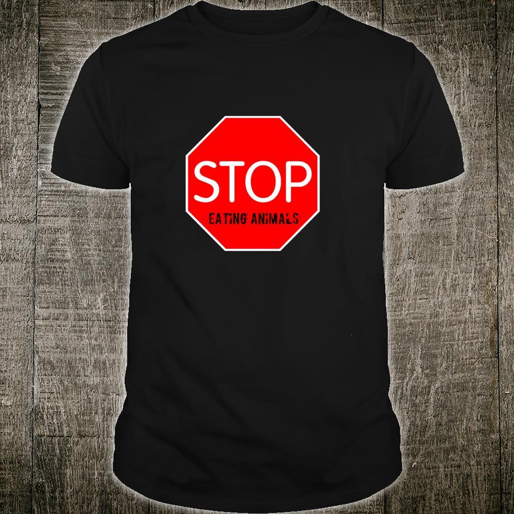 Stop Eating Animals Vegetarian Shirt