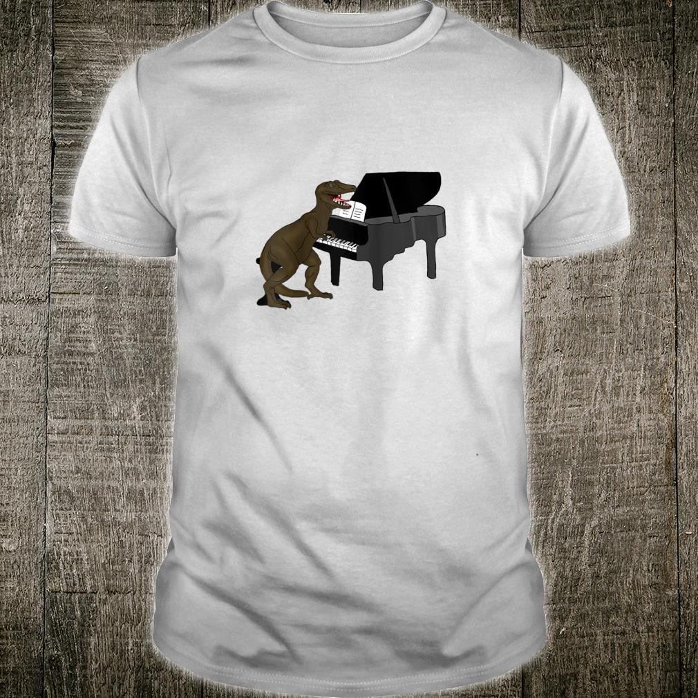 Storecastle Dino Dinosaur Playing Piano Music Animal Shirt
