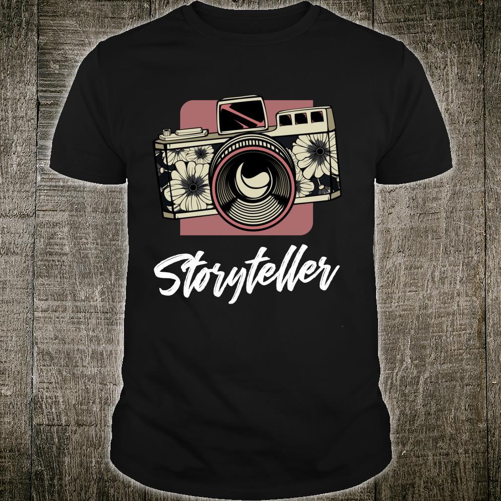 Storyteller DSLR Camera Photography Hobby Photographer Shirt