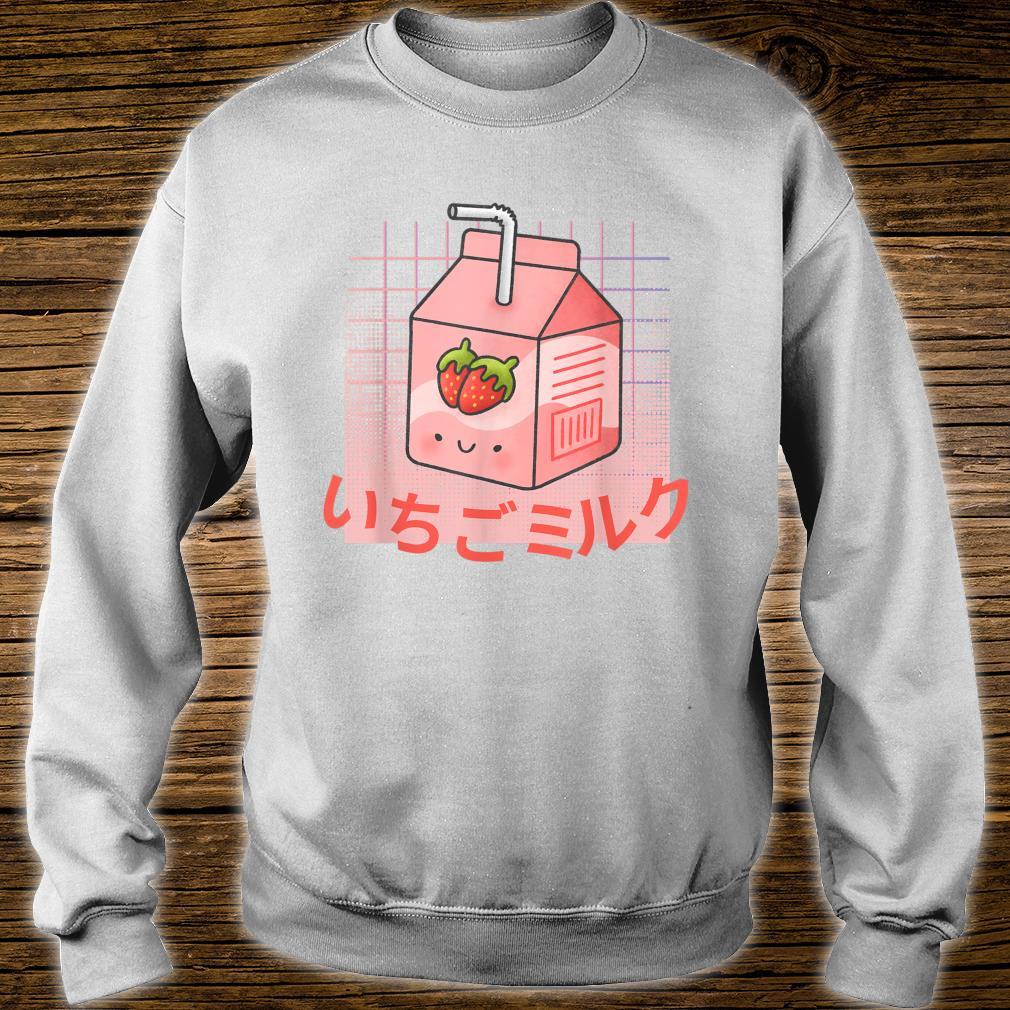 Strawberry Milk Kawaii Cute Vaporwave Aesthetic Retro 90s Shirt sweater