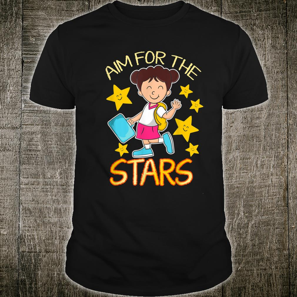Student Aim for the Stars Kindergarten School Shirt