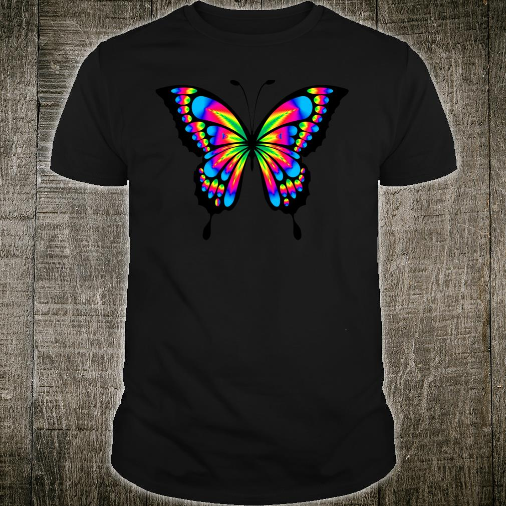 Stunning Butterfly in Bright Psychedelic Vibrant Colors Shirt