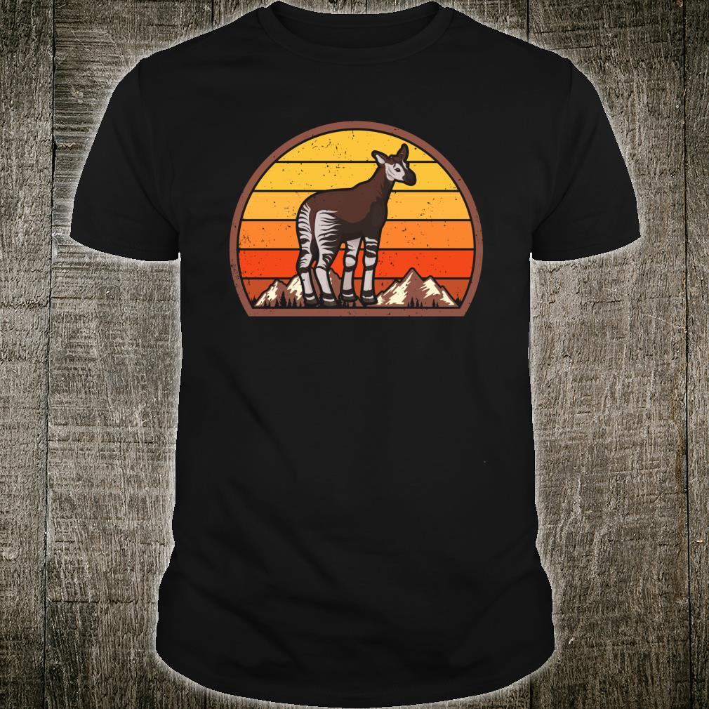 Sunset Okapi Vintage Retro Okapi Shirt