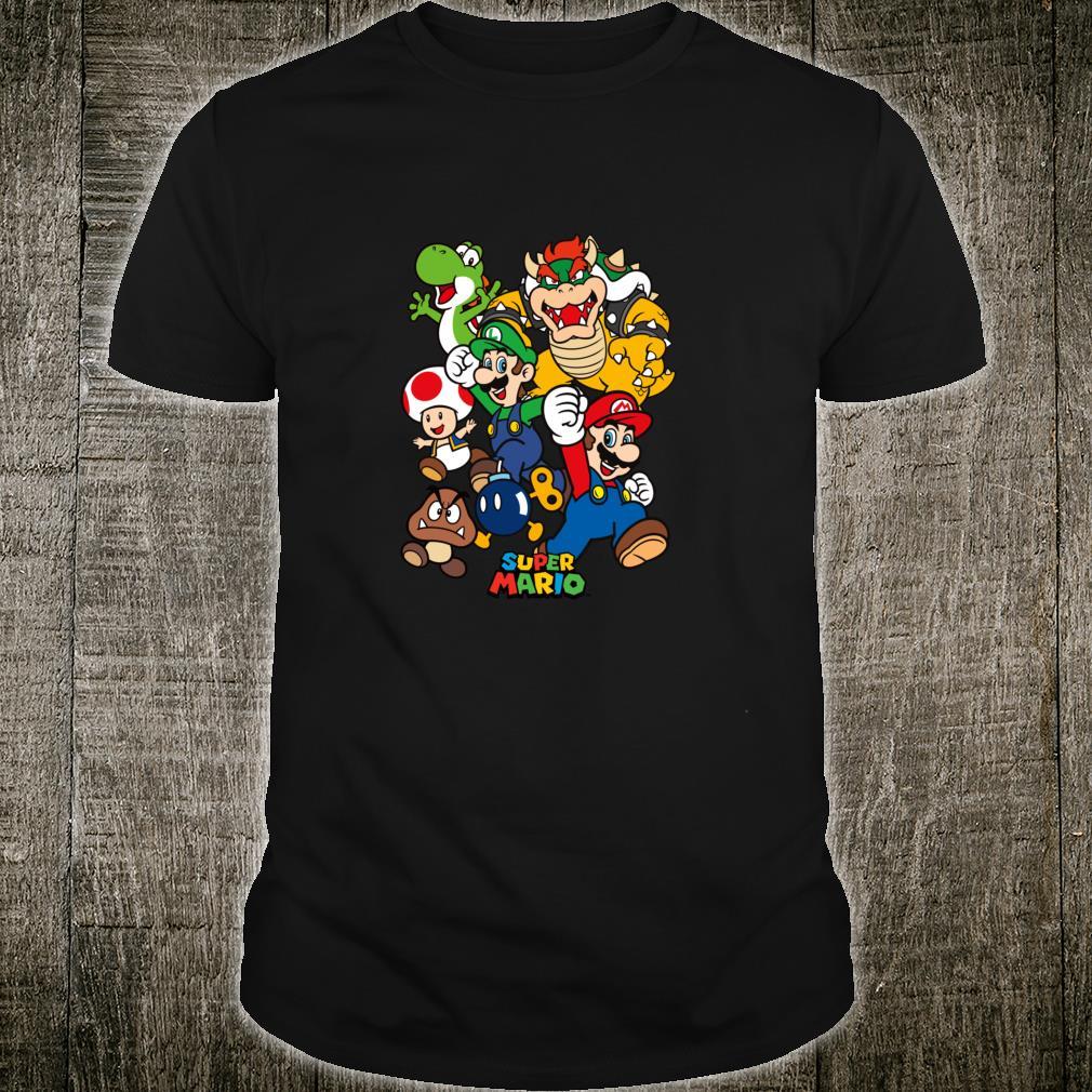 Super Mario Group Shot Jump Up And Play Shirt