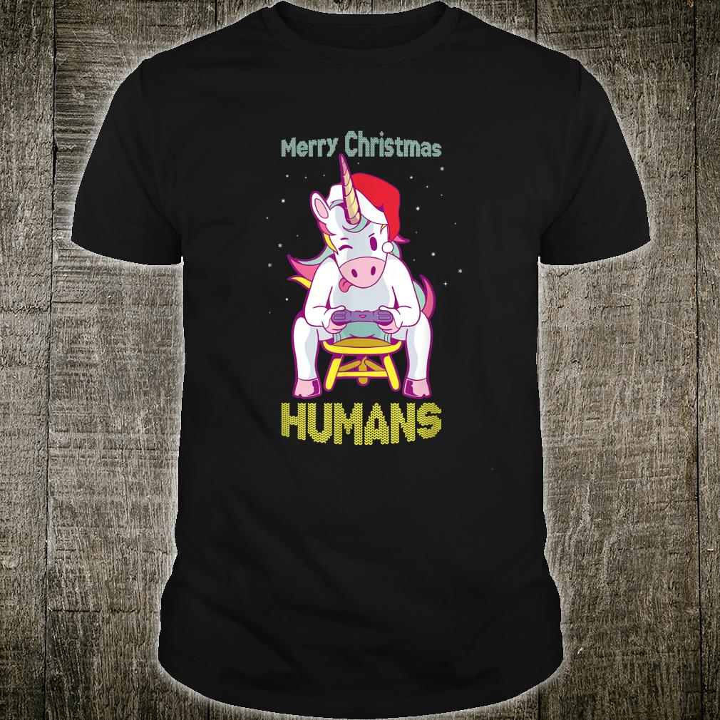 Super Xmas Unicorn Gamer Pajama for. Merry Xmas Shirt