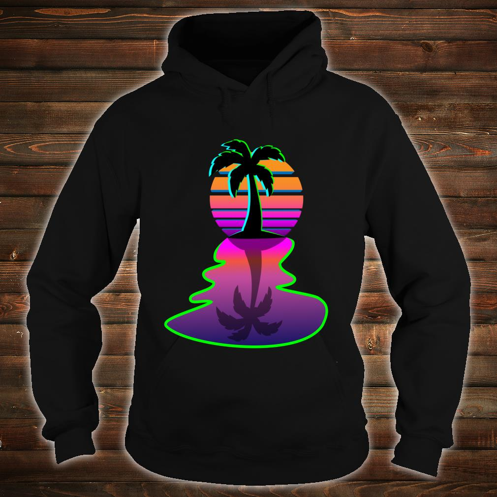 Synthwave 80s Cool Aesthetic Palm Tree Retro Inspired Sun Shirt hoodie