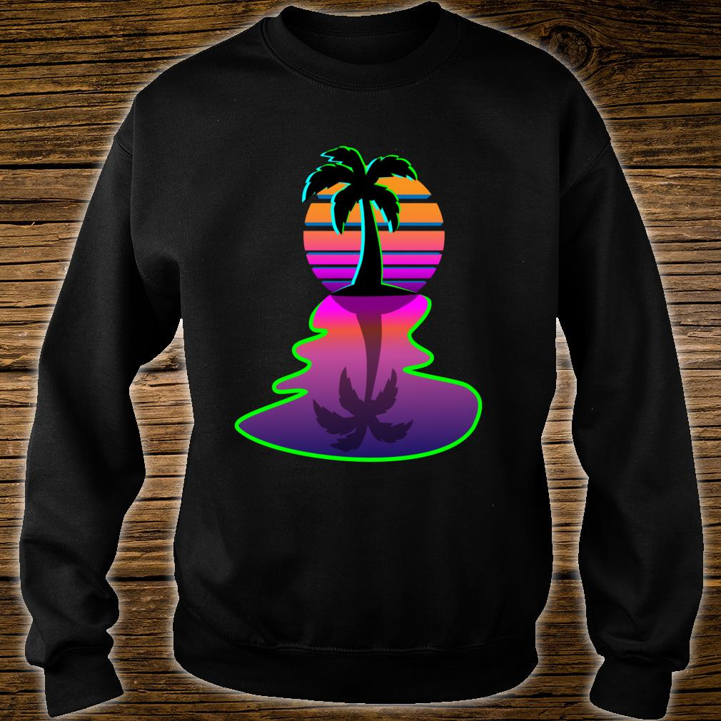 Synthwave 80s Cool Aesthetic Palm Tree Retro Inspired Sun Shirt sweater
