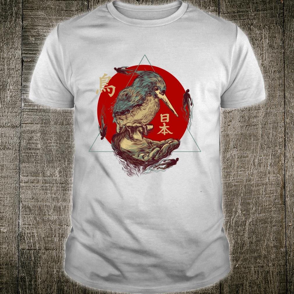 TRADITIONAL JAPANESE DESIGN, ORIENTAL BIRD ART FROM JAPAN Shirt