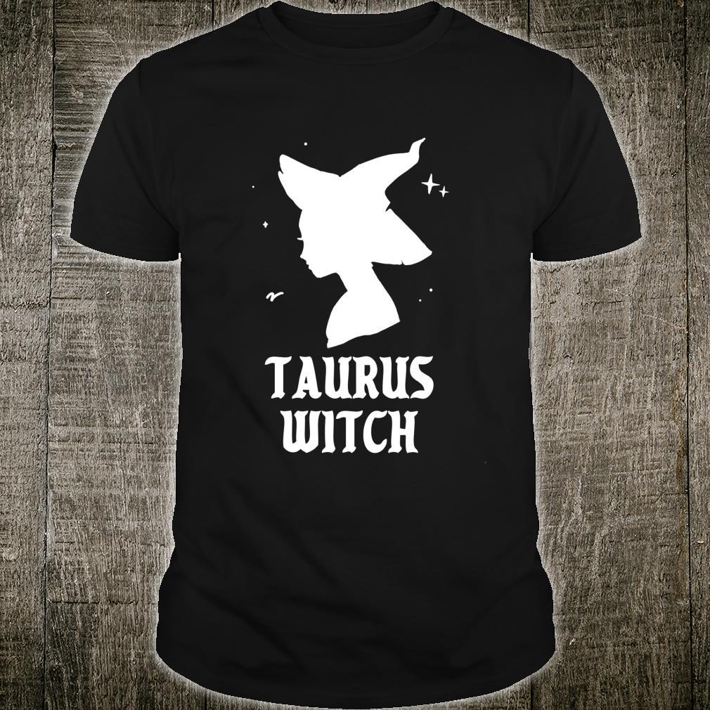 Taurus Witch Spooky Vibes Goth Halloween Horoscope Shirt