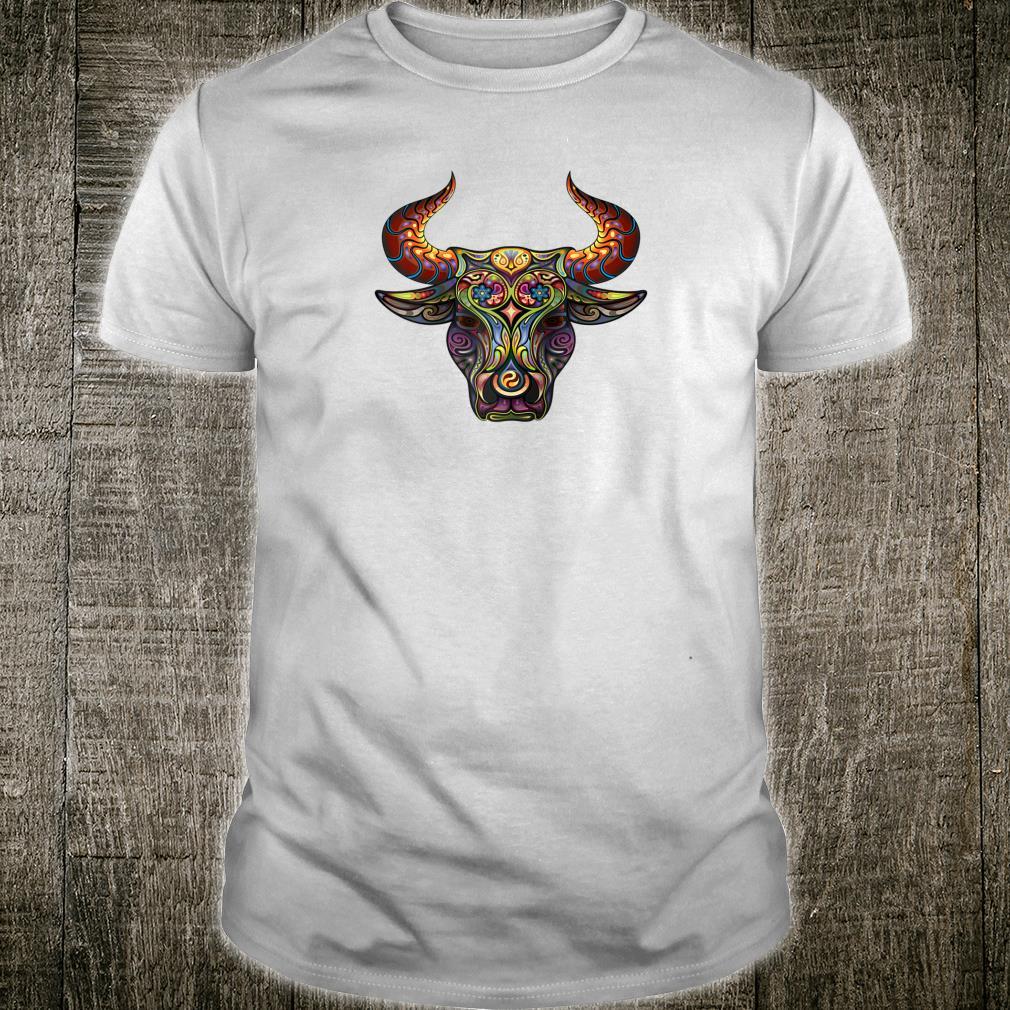 Taurus Zodiac Bull Birthday Asian Art For Oxs Shirt