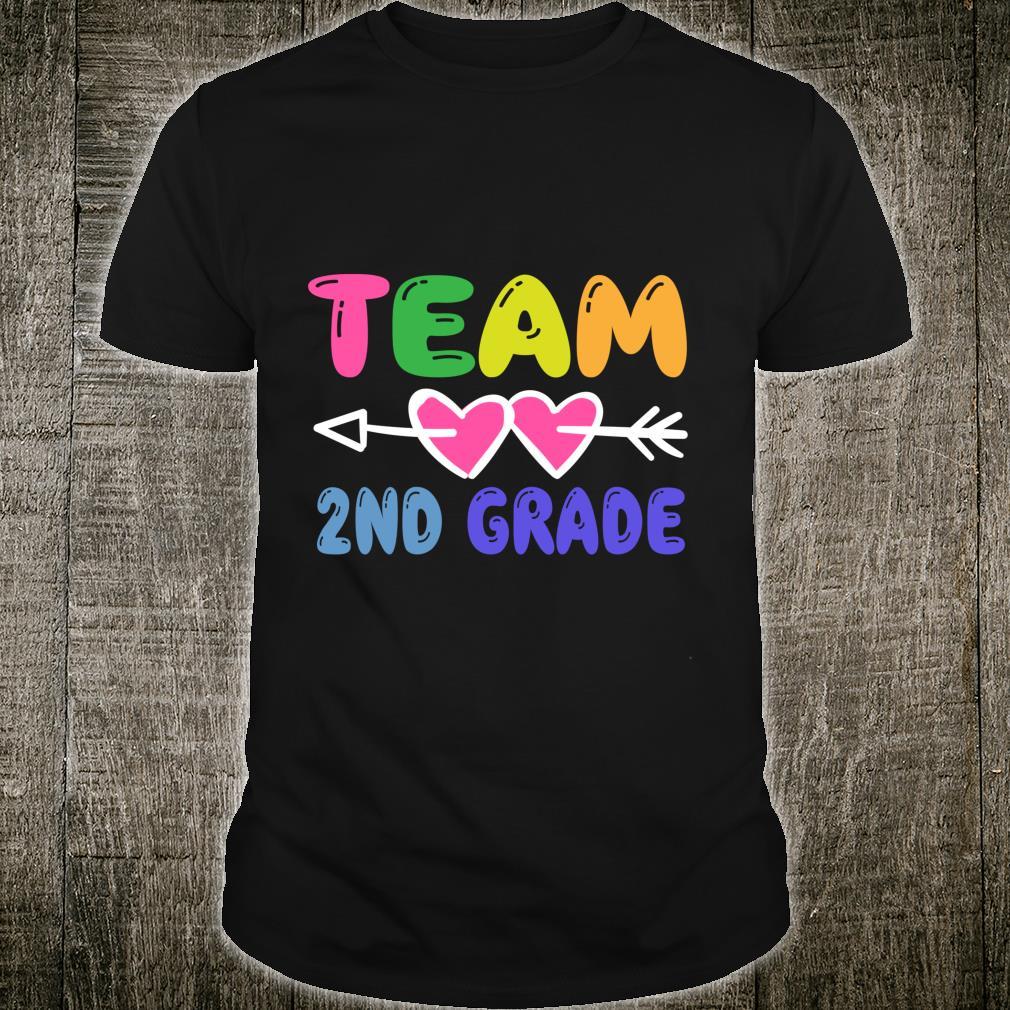 Team 2nd Grade Teacher Student Back To School Shirt