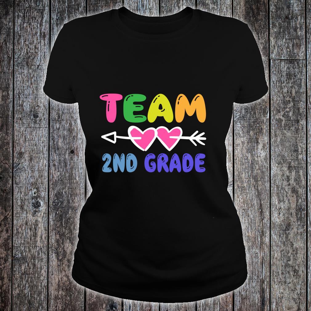 Team 2nd Grade Teacher Student Back To School Shirt ladies tee