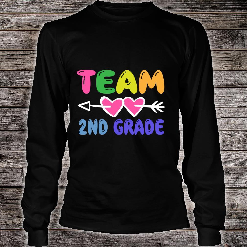 Team 2nd Grade Teacher Student Back To School Shirt long sleeved