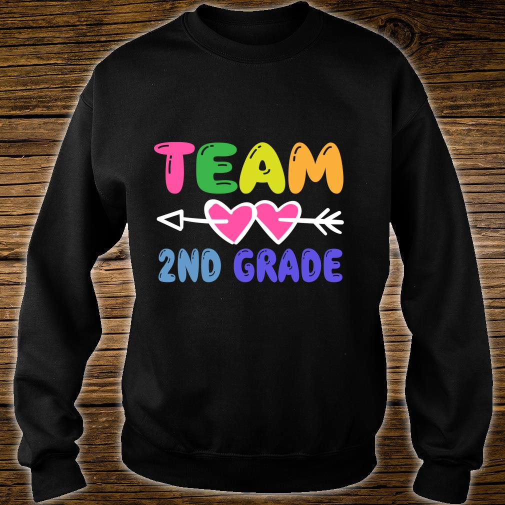 Team 2nd Grade Teacher Student Back To School Shirt sweater