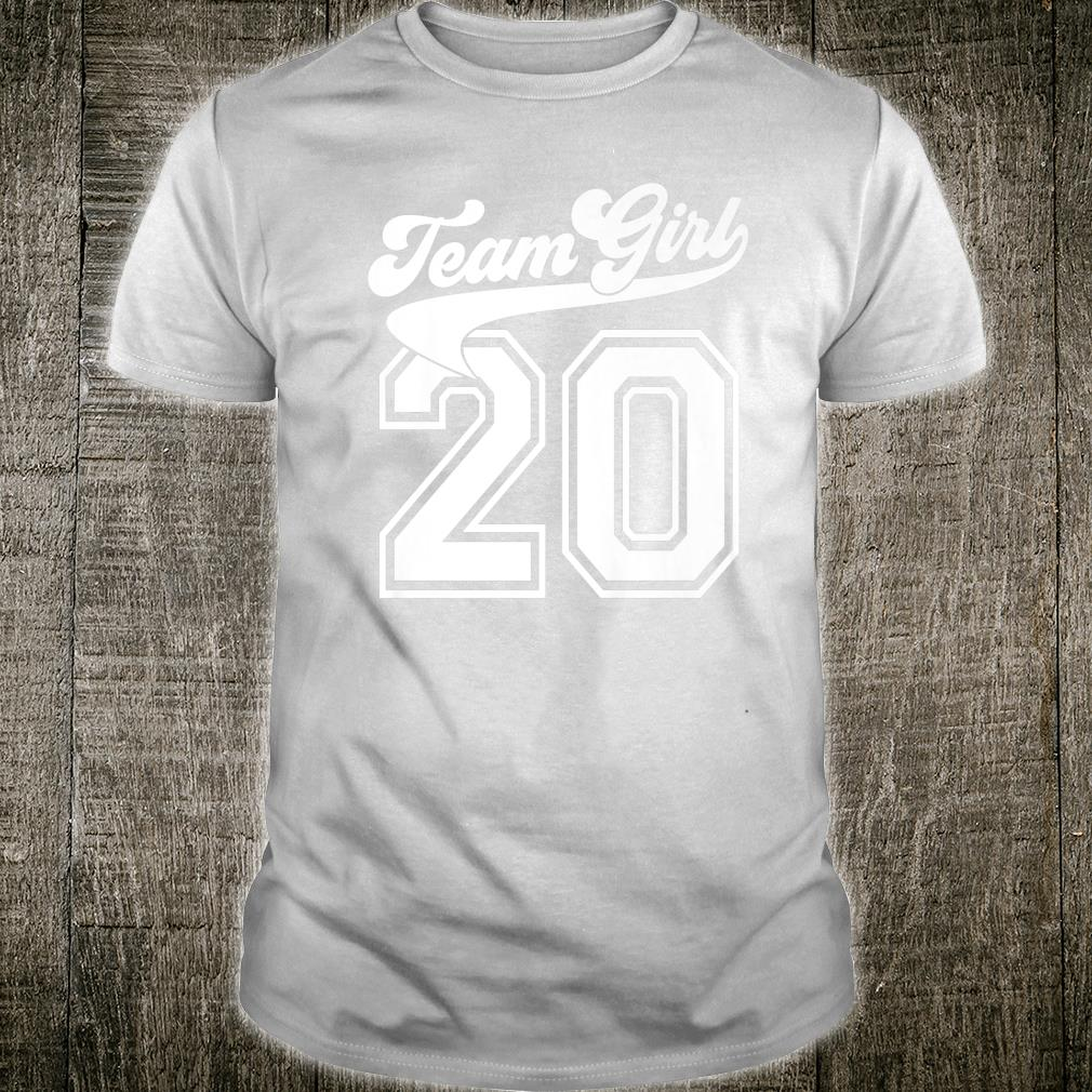 Team Girl Gender Reveal Party Birth Announcement Shower Shirt