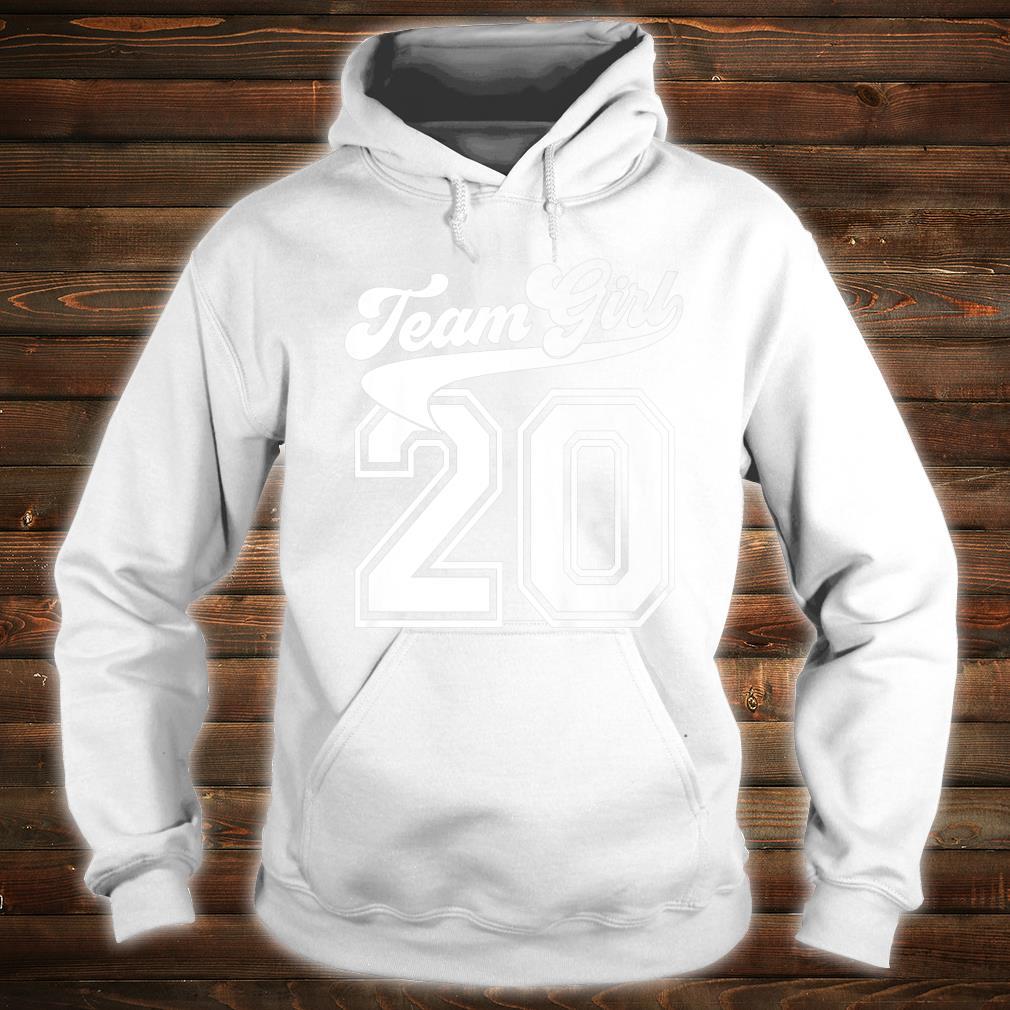 Team Girl Gender Reveal Party Birth Announcement Shower Shirt hoodie