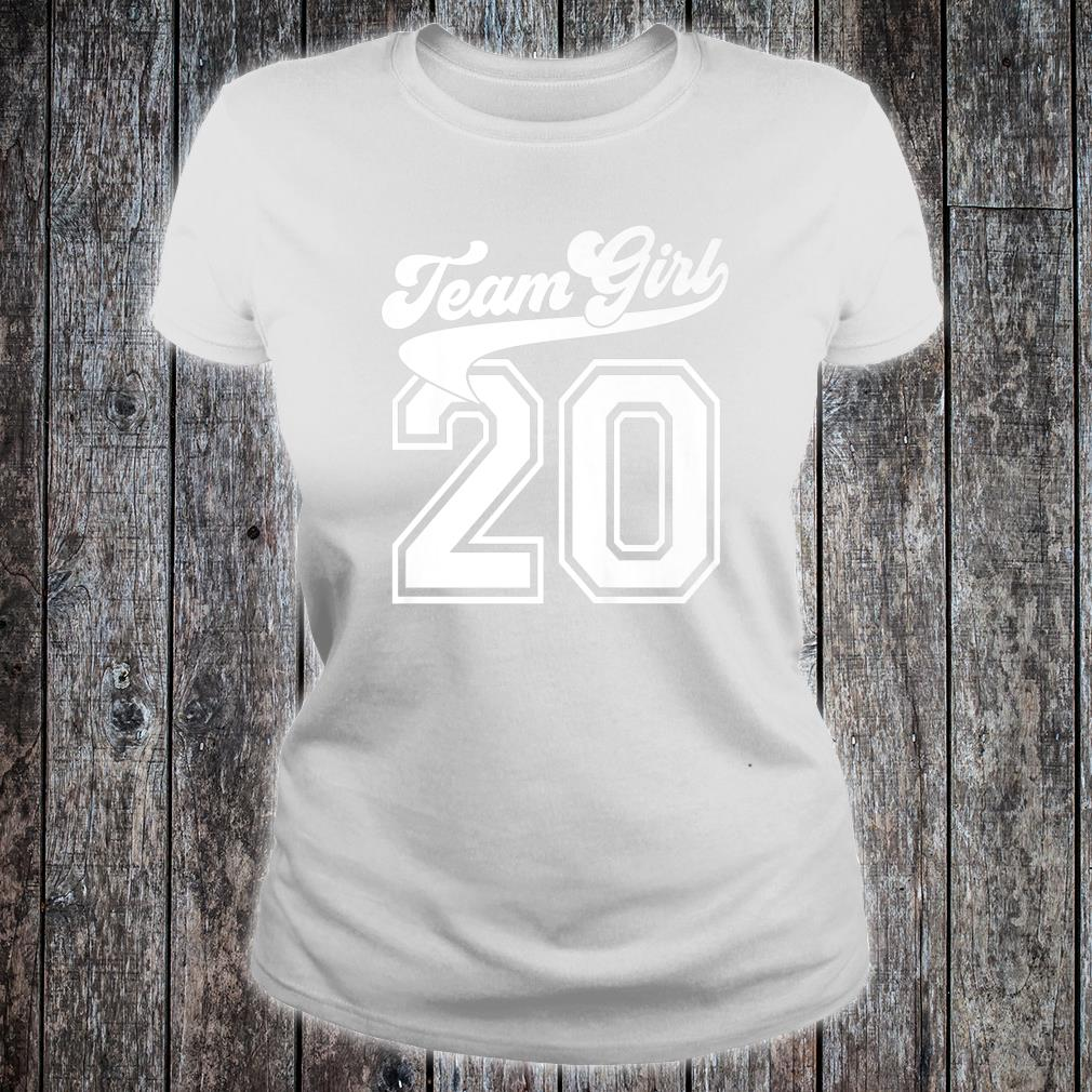 Team Girl Gender Reveal Party Birth Announcement Shower Shirt ladies tee
