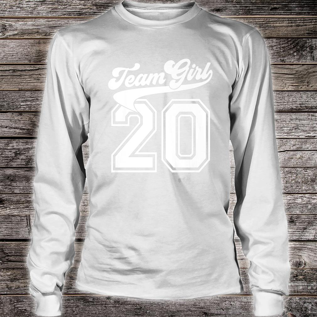 Team Girl Gender Reveal Party Birth Announcement Shower Shirt long sleeved