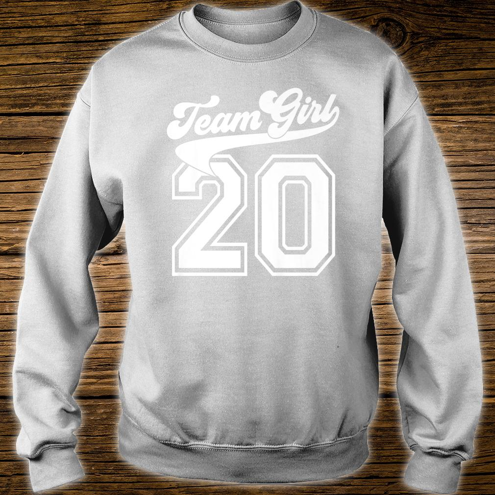Team Girl Gender Reveal Party Birth Announcement Shower Shirt sweater